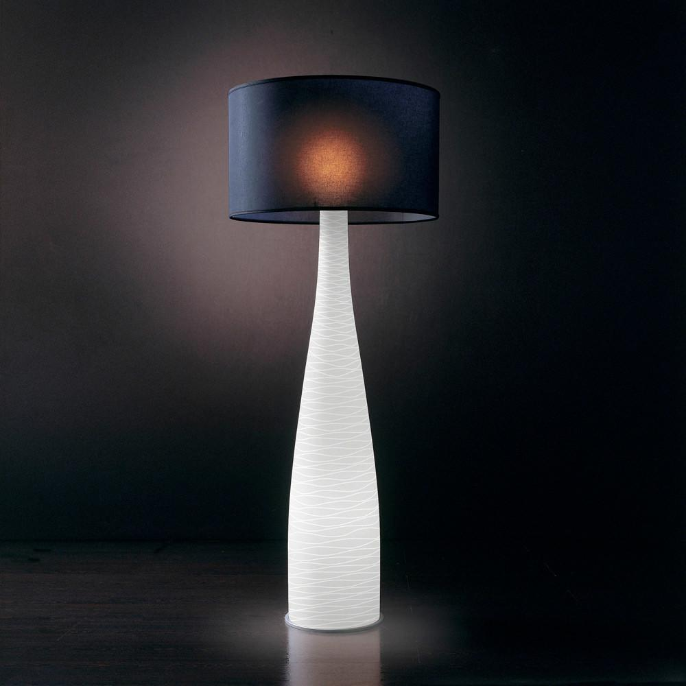 Leucos Class Plus Modern Floor Lamp Made Blown Glass