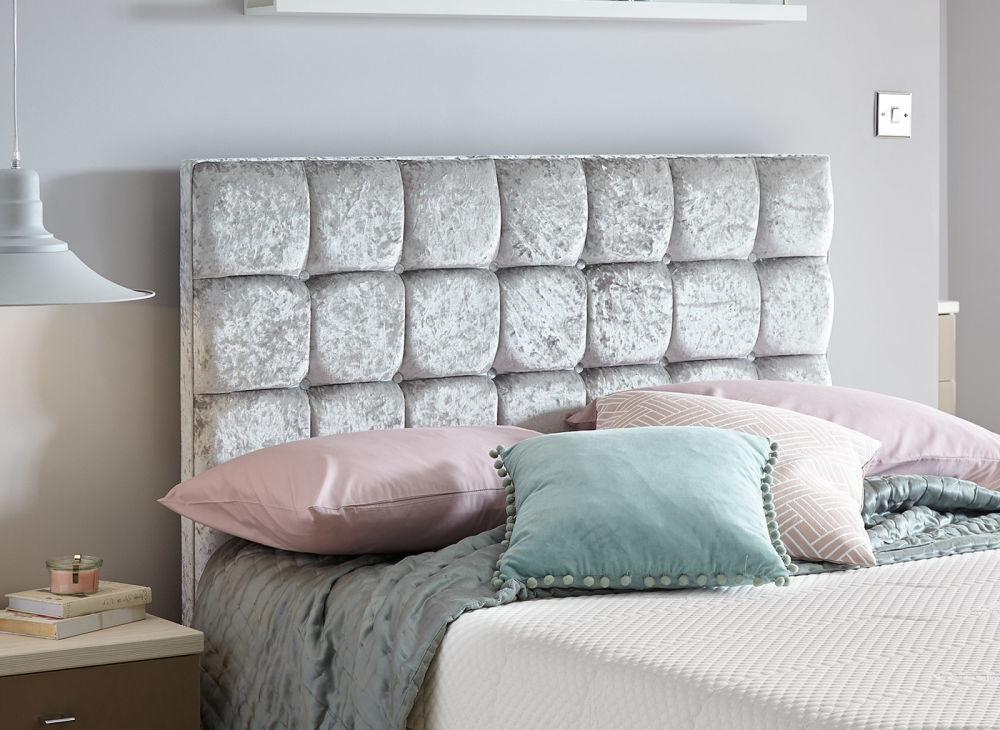 Lever Luxury Plush Crushed Velvet Headboard Dreams