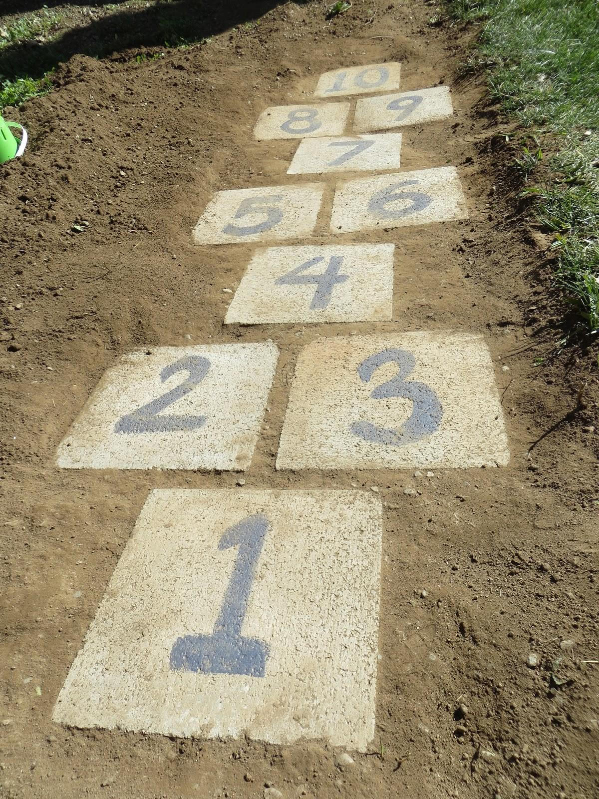 Life Among Other Things Day Diy Hopscotch Garden Path