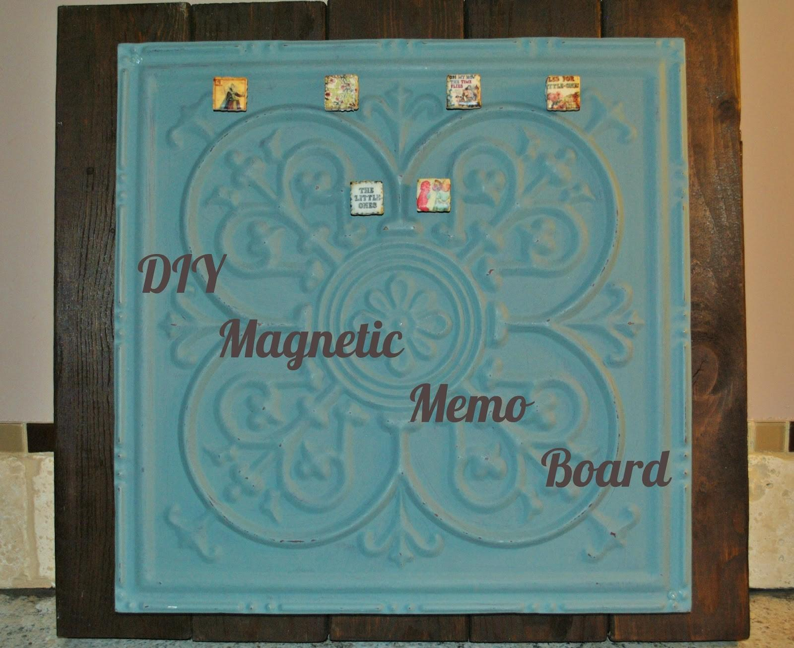 Life Boys Diy Shabby Chic Magnetic Memo Board