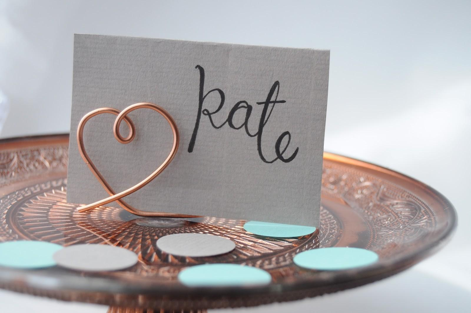 Life Lisa Diy Wire Place Card Holders