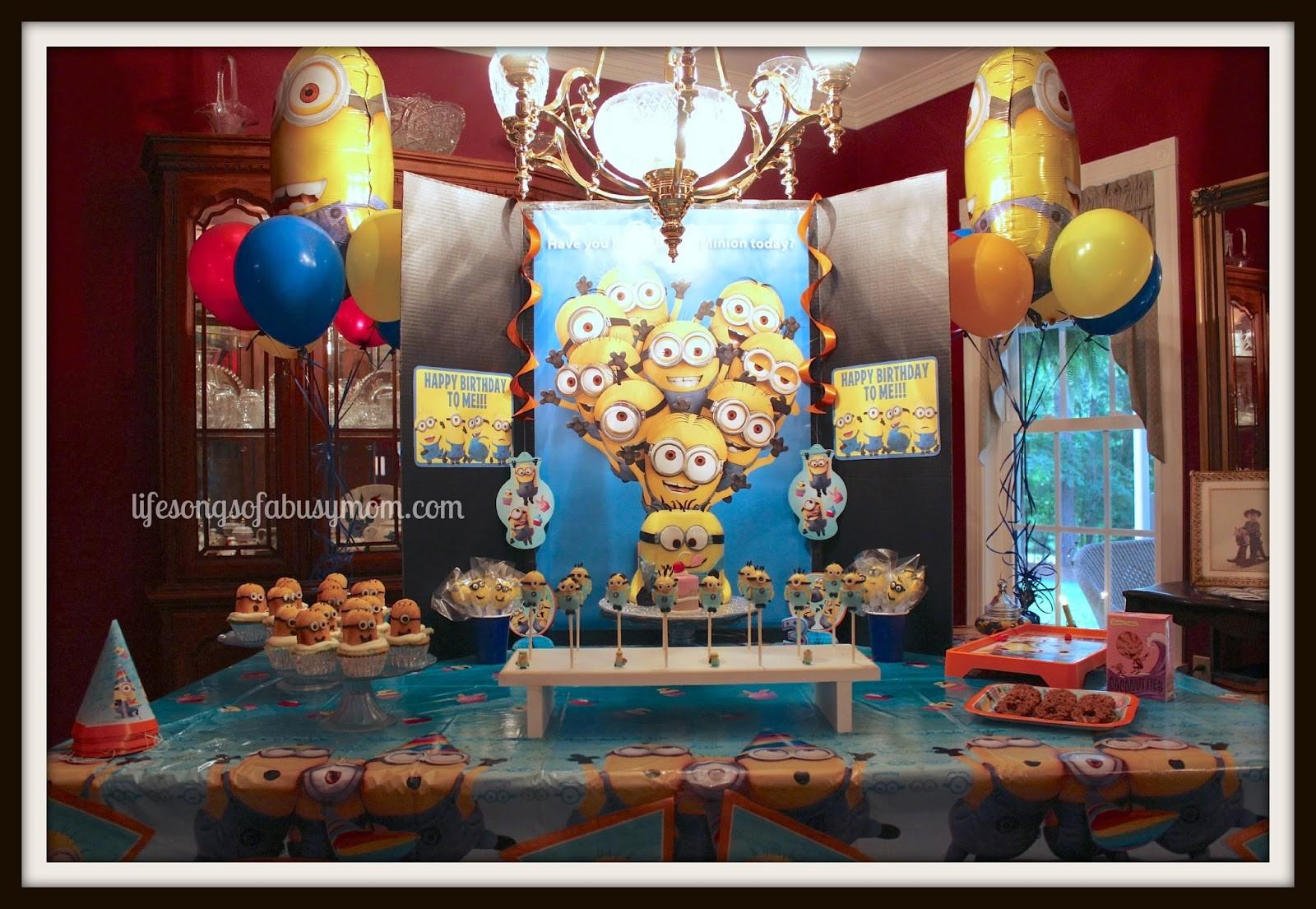 Life Songs Busy Mom Despicable Minion Birthday Party