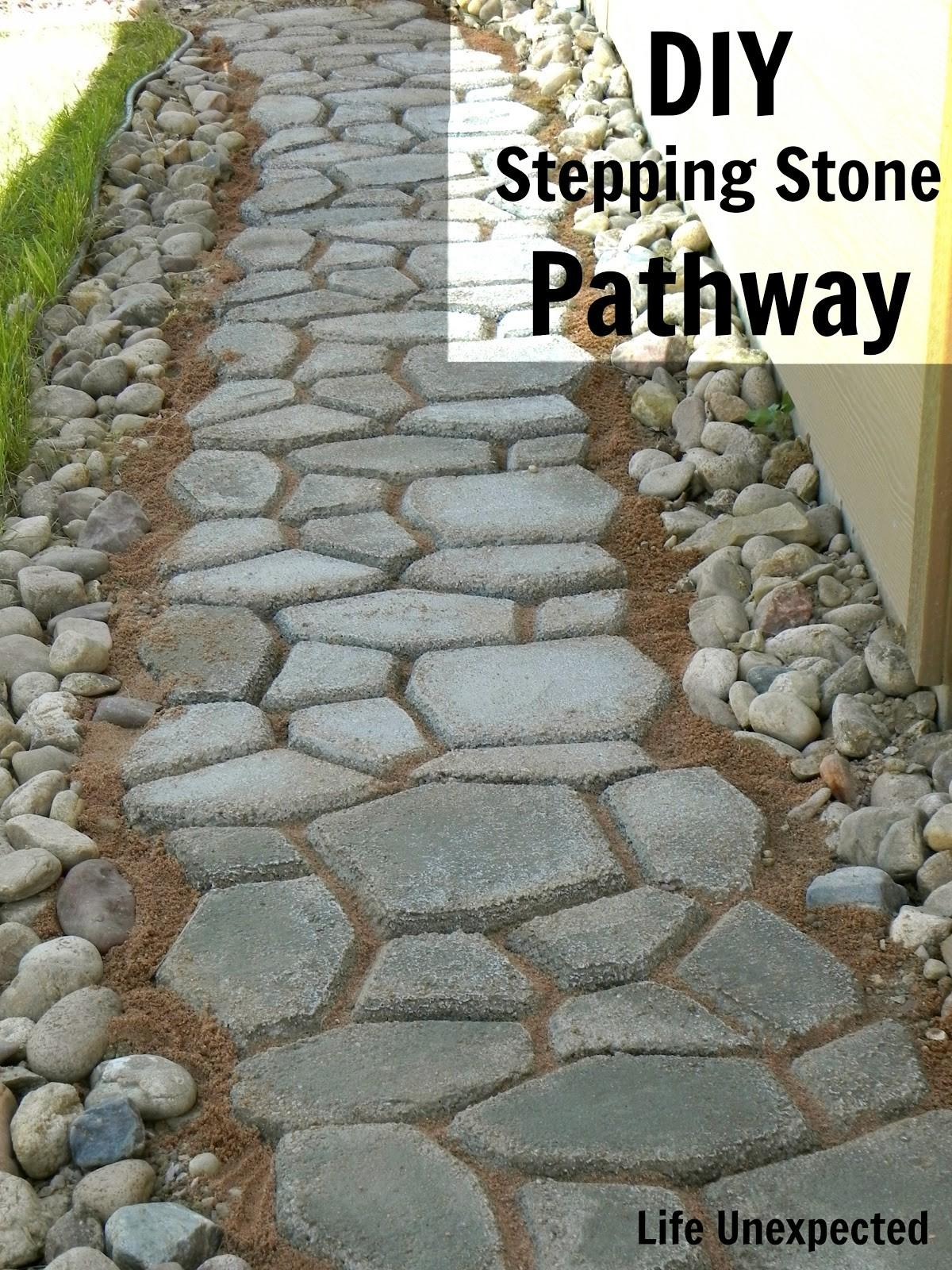 Life Unexpected Diy Stepping Stone Pathway