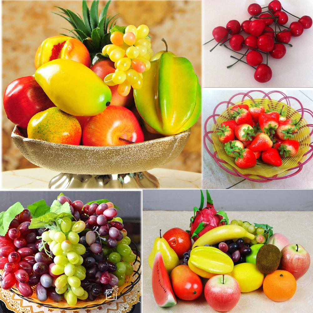 Lifelike Artificial Decorative Plastic Fruit Home Decor