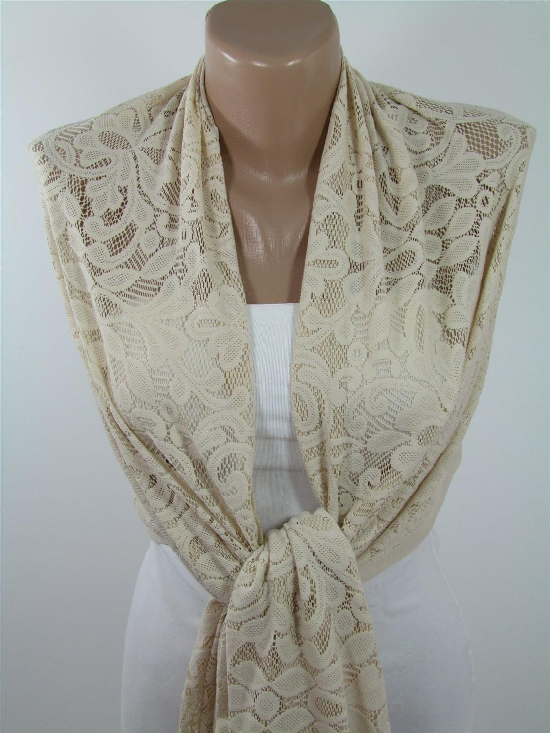 Light Beige Scarf Shawl Spring Fashion Summer Bridal