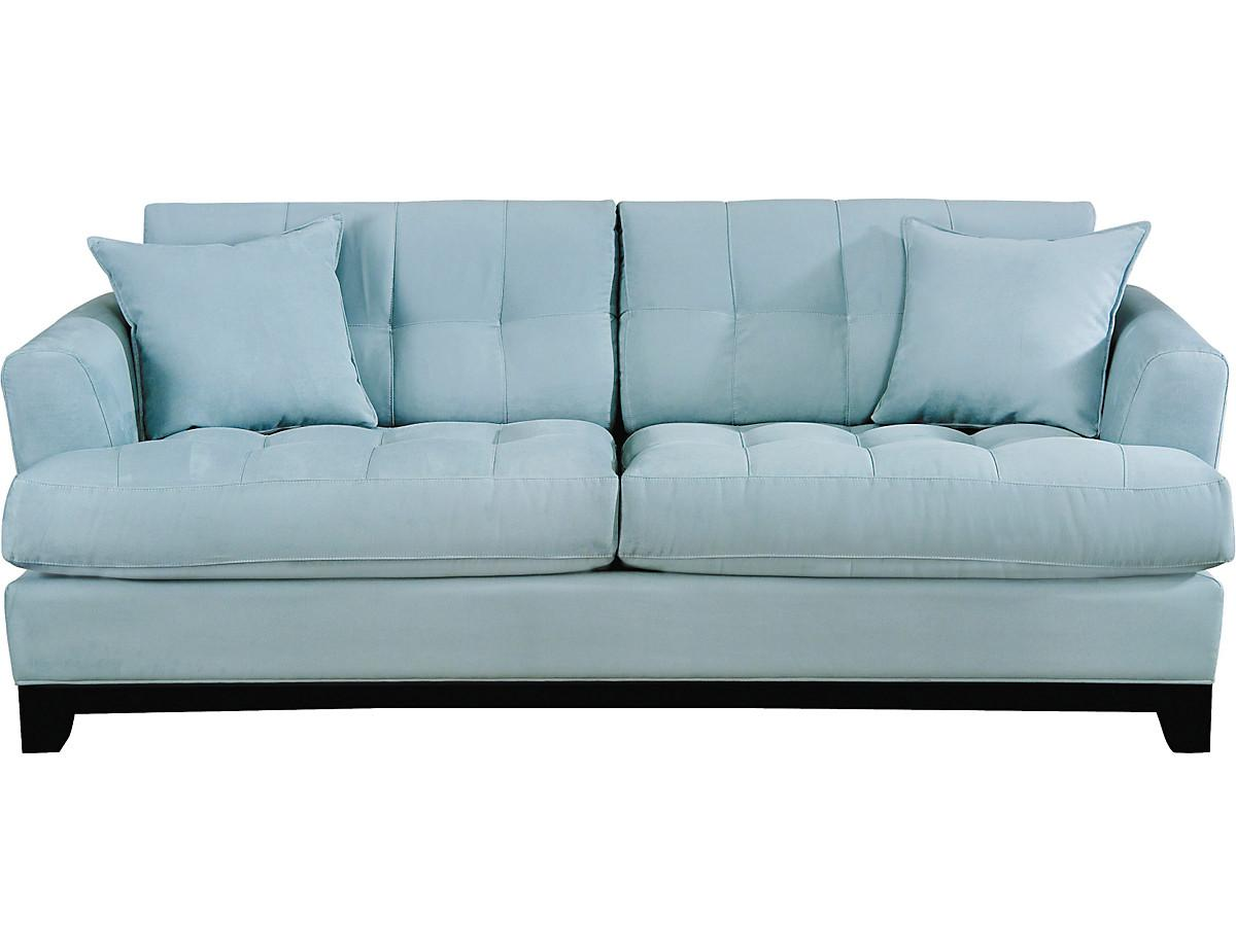 Light Blue Leather Sofa One Thousand Gifts Summertime