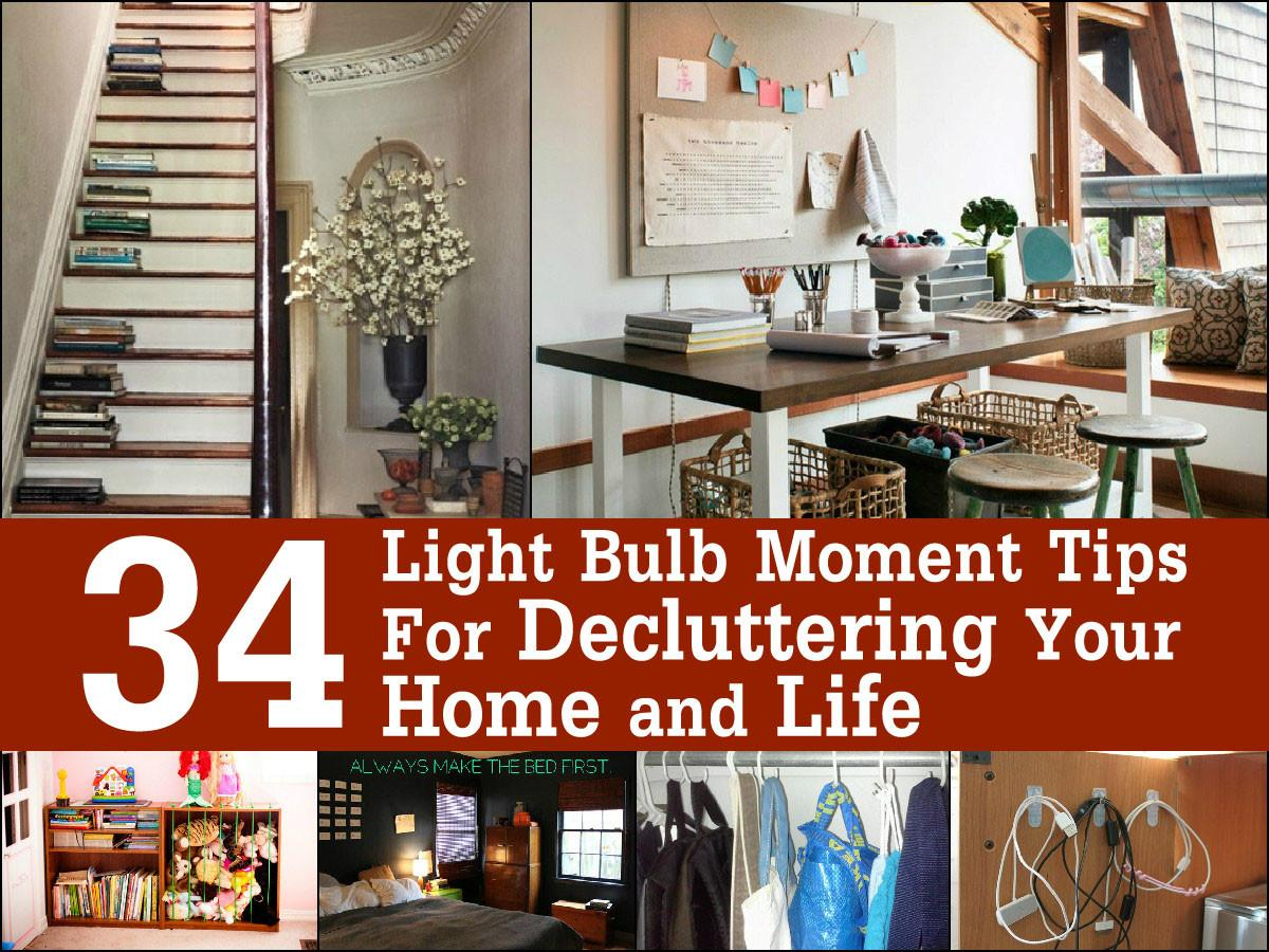 Light Bulb Moment Tips Decluttering Your Home