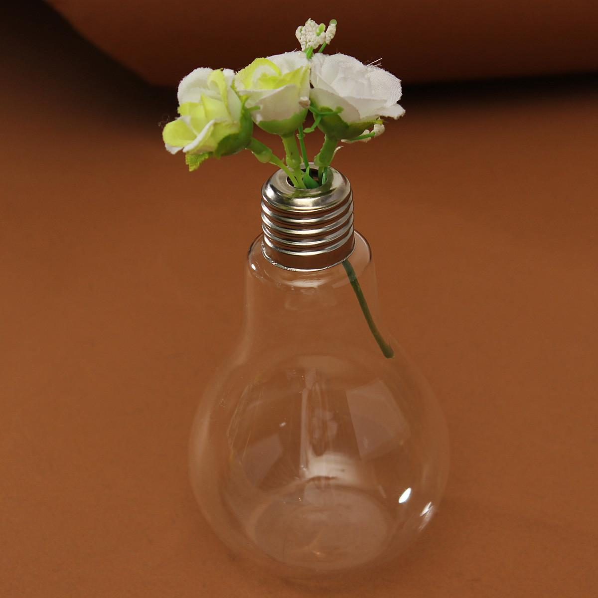 Light Bulb Shape Glass Flower Vase Hydroponic Container