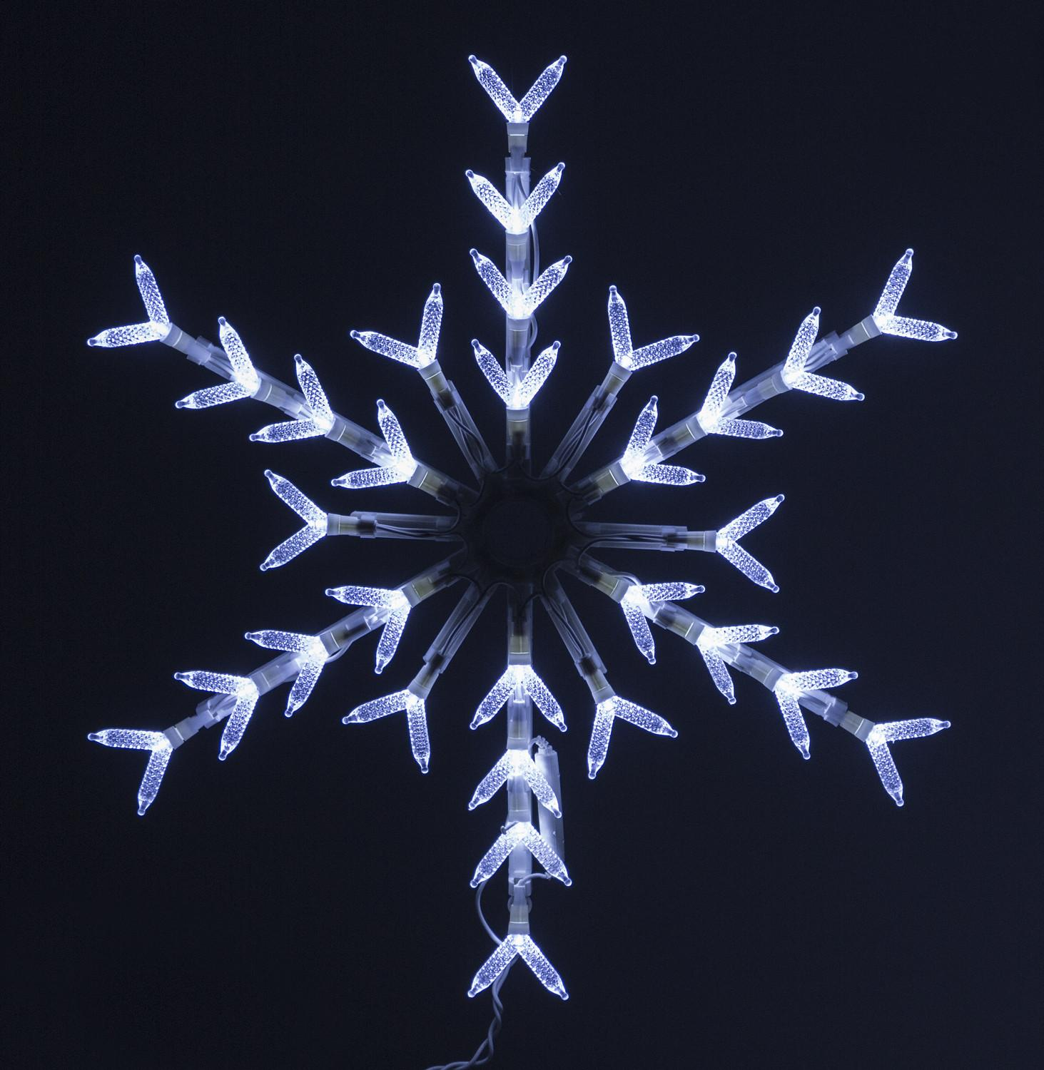 Light Cool White Snowflake Window Decoration