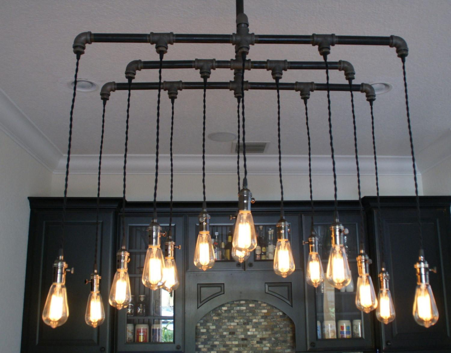 Light Industrial Chandelier