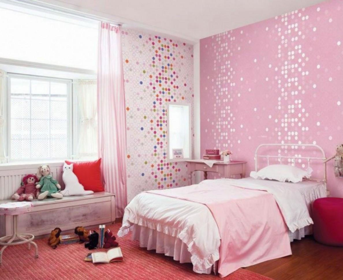 Light Pink Girls Room Master Bedroom Interior Design