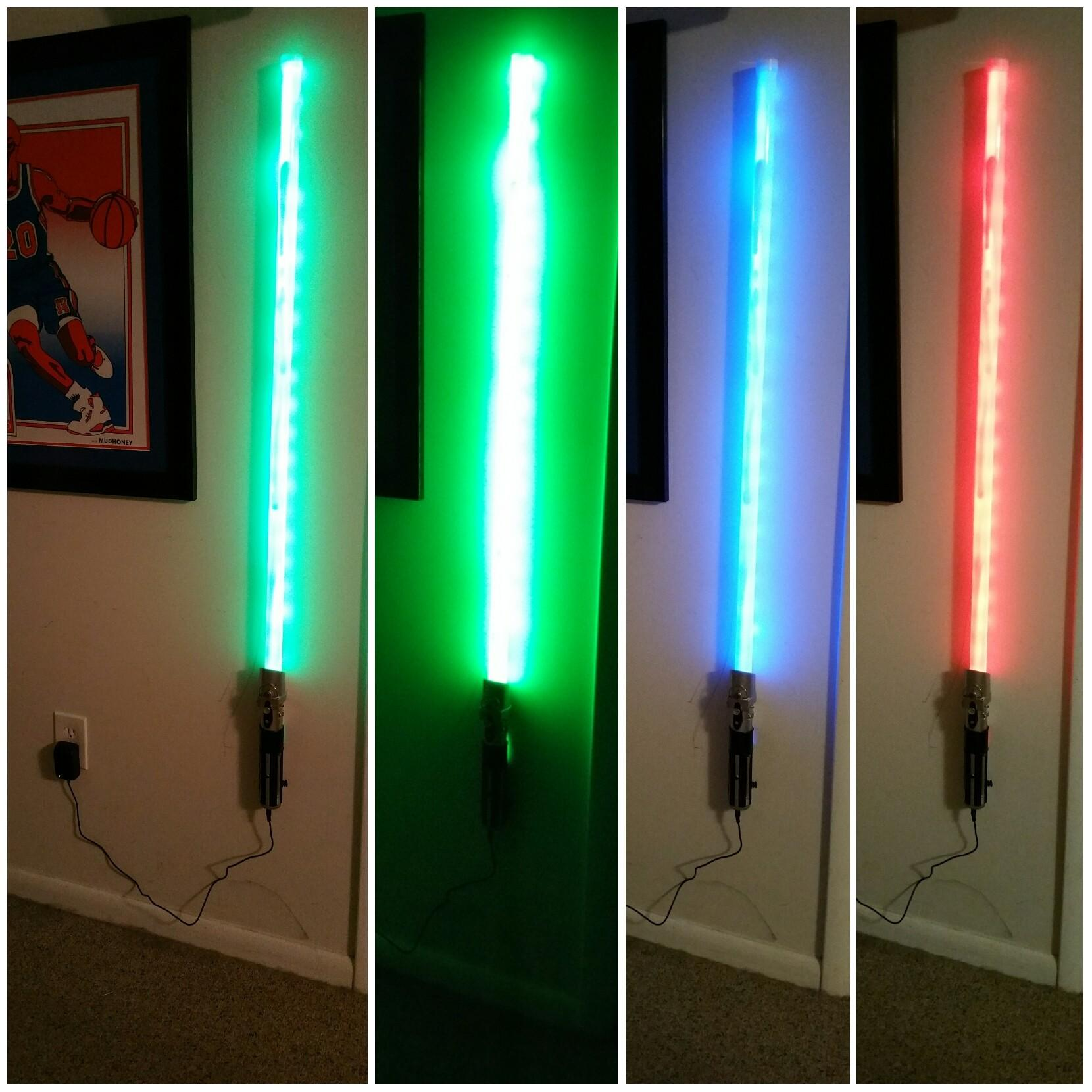 Light Saber Wall Star Wars Atmosphere Your Home