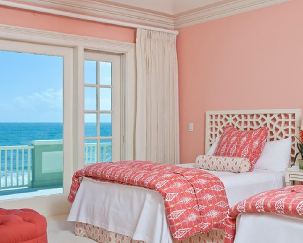 Light Salmon Pink Paint Color Feminine Beach Bedroom