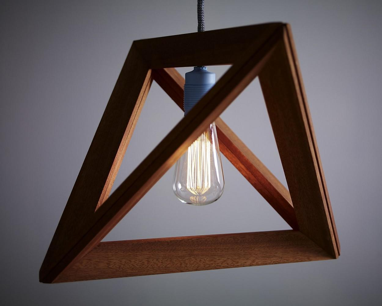 Lightframe Wooden Pendant Lamp Herr Mandel Design