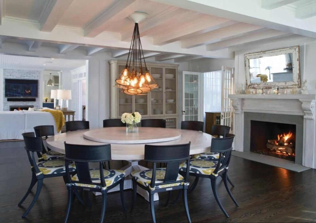 Lighting Ideas Dining Room Wooden Floor Accent Table