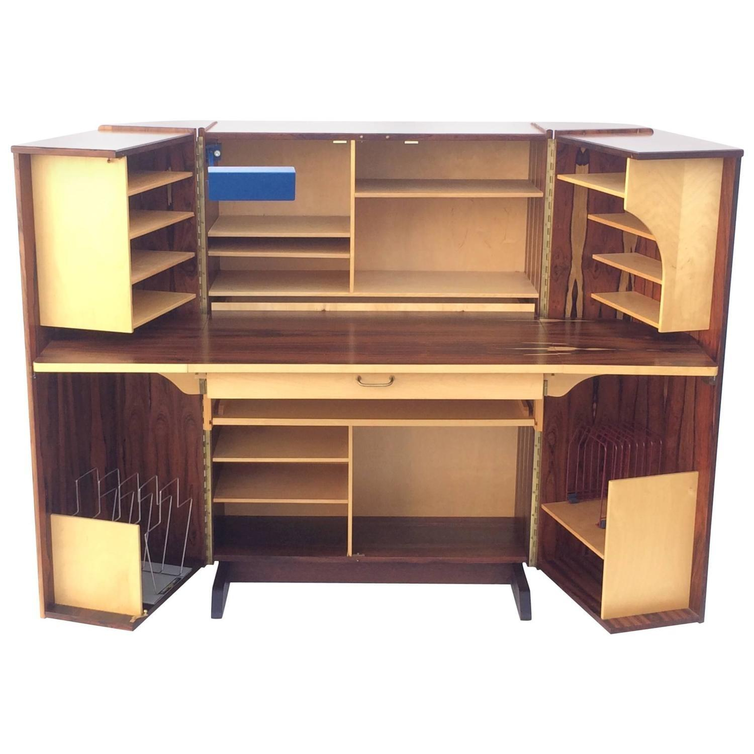 Likeable Ombre Brown Wooden Fold Desk Ideas Formal