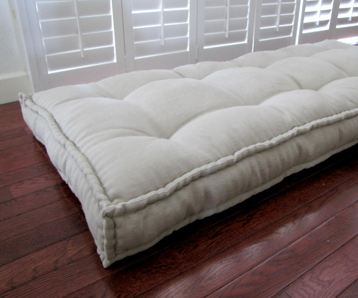 Linen Daybed Mattress Custom Cushions Tufted Cushion