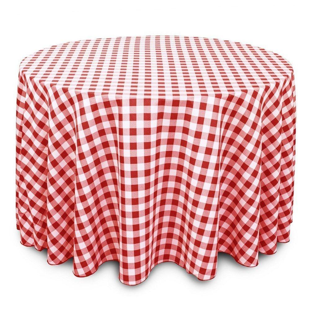 Linentablecloth 108 Inch Round Polyester Tablecloth Red