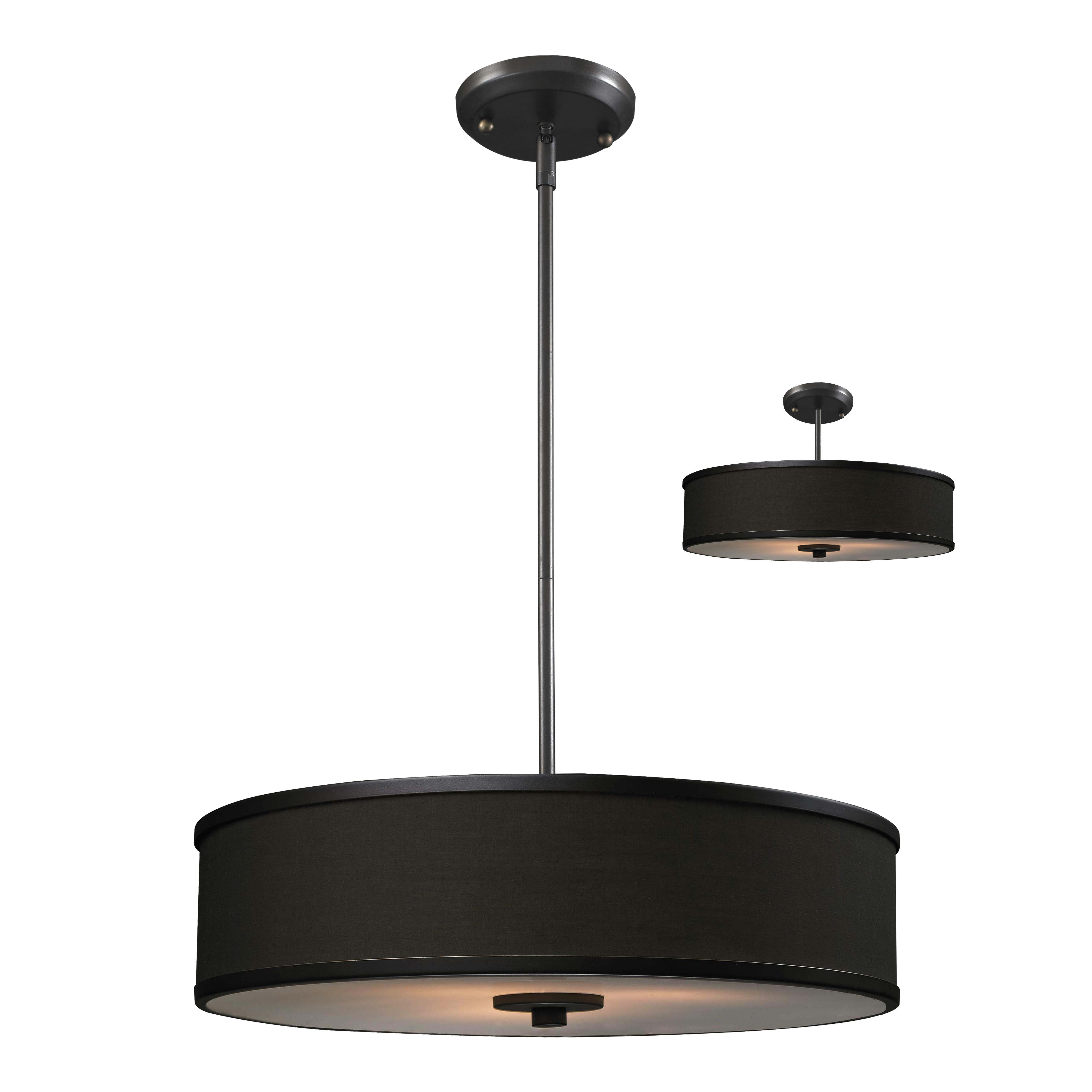 Lite Cameo Convertible Light Drum Foyer Pendant
