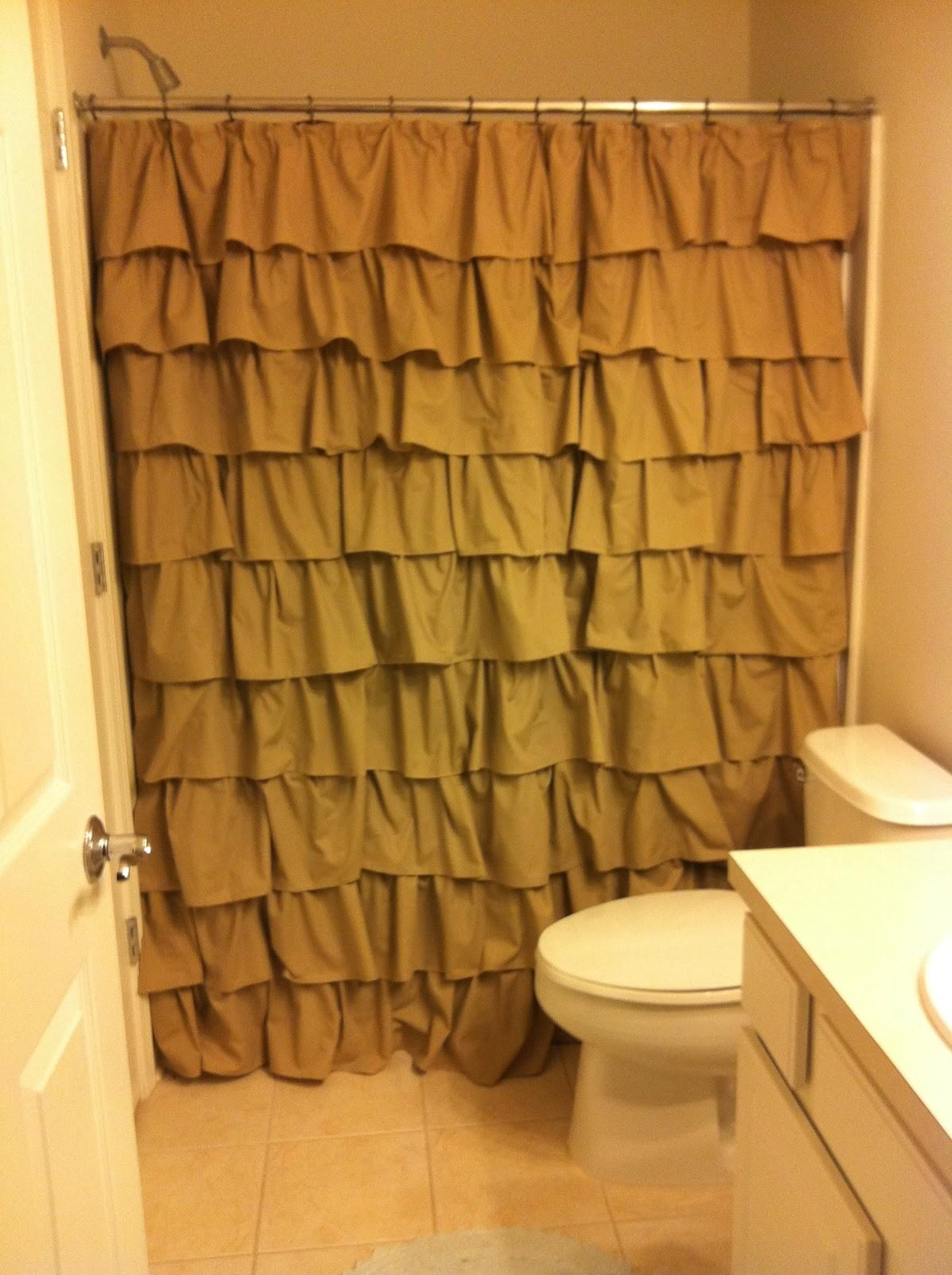 Little Bit Everything Diy Ruffle Shower Curtain