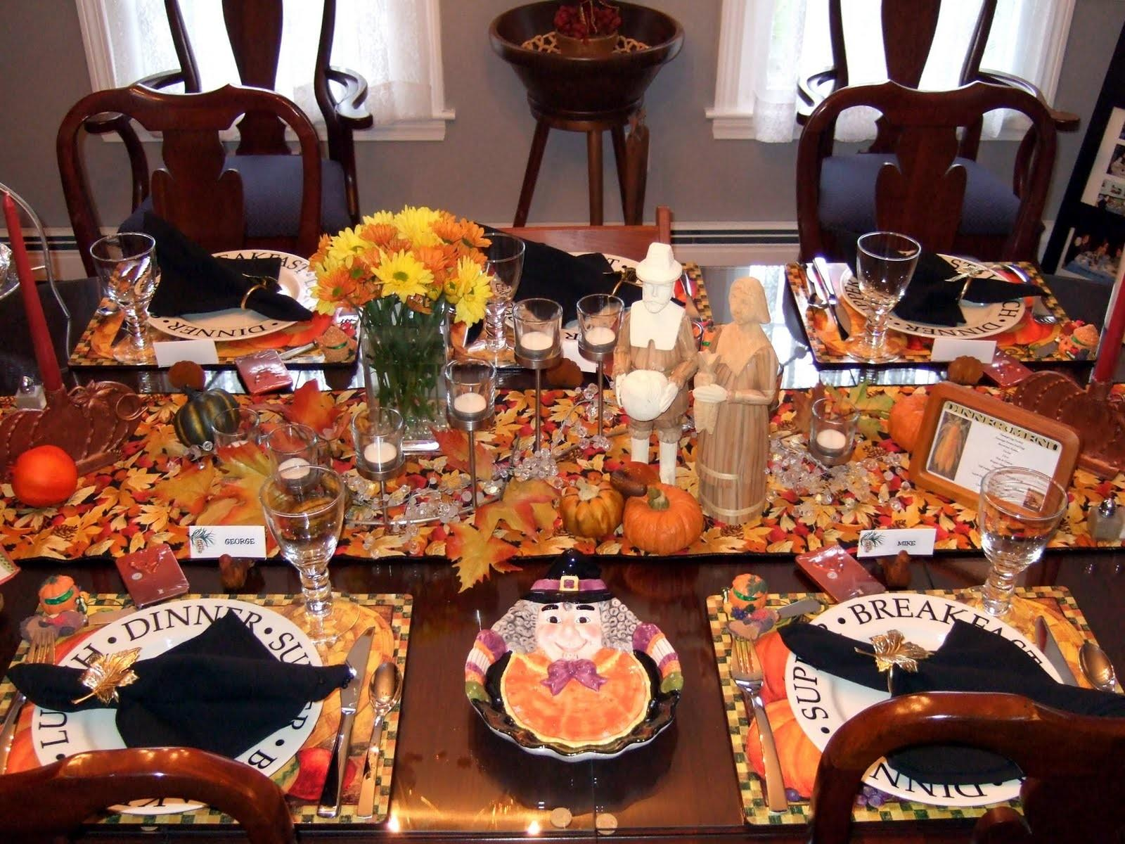 Little Bit Everything Table Setting Thanksgiving Tables