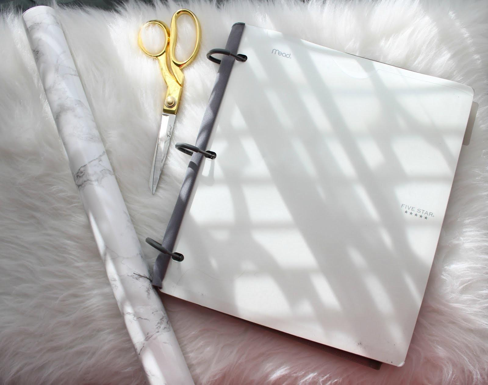 Little Bits Lacey Diy Marble Notebook