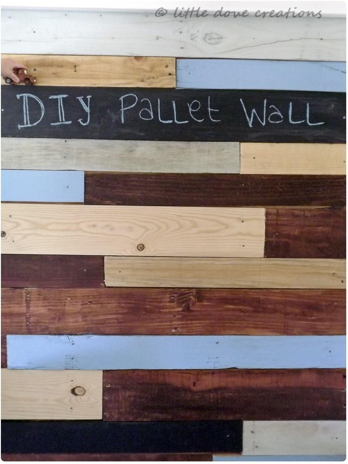 Little Dove Creations Diy Pallet Wall