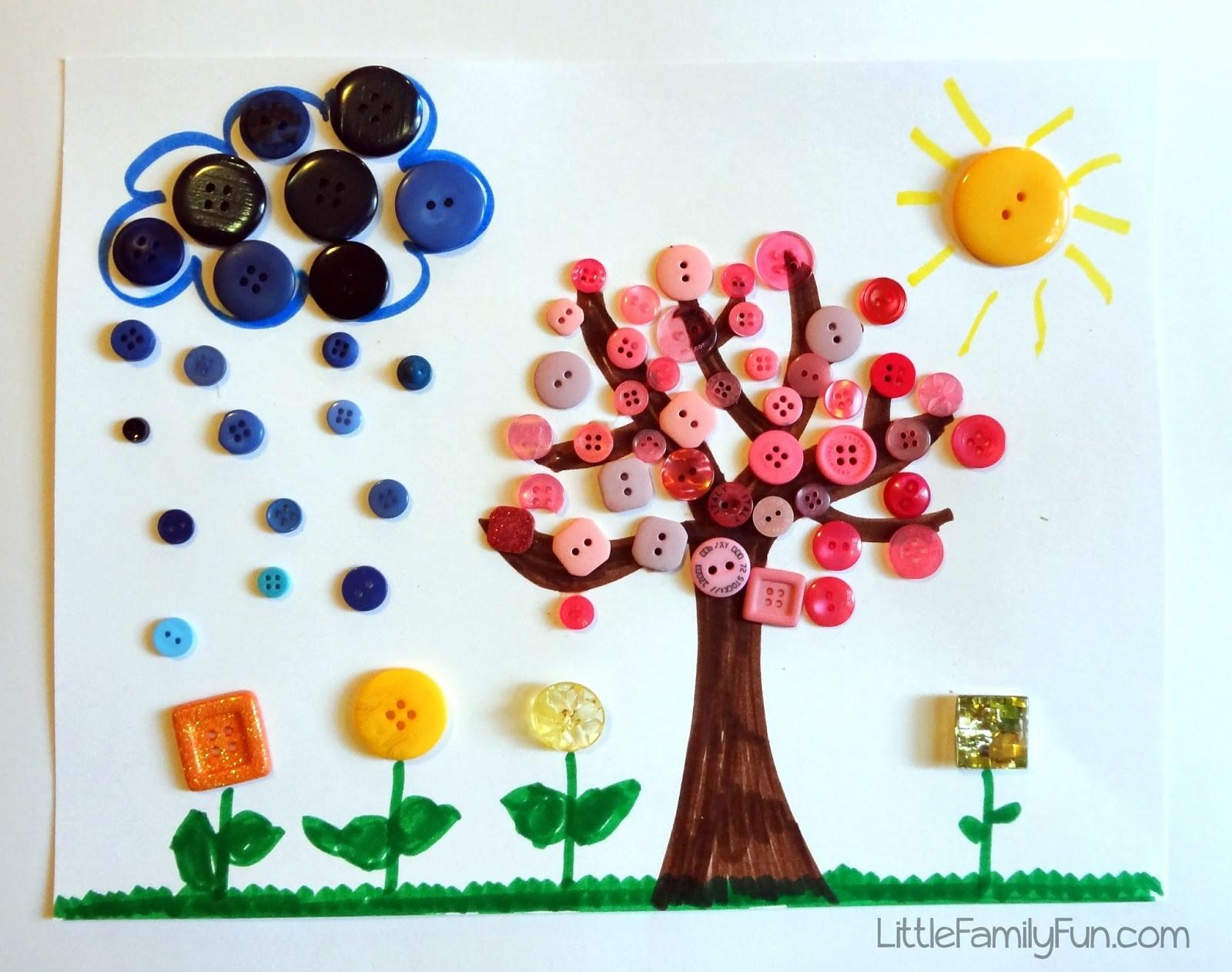 Little Family Fun Spring Button Craft Kids