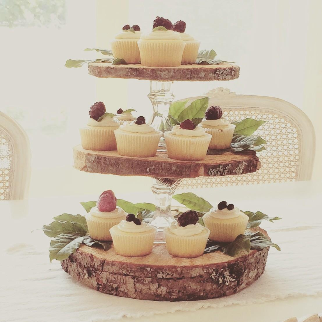 Little Farmstead Rustic Tier Cupcake Stand
