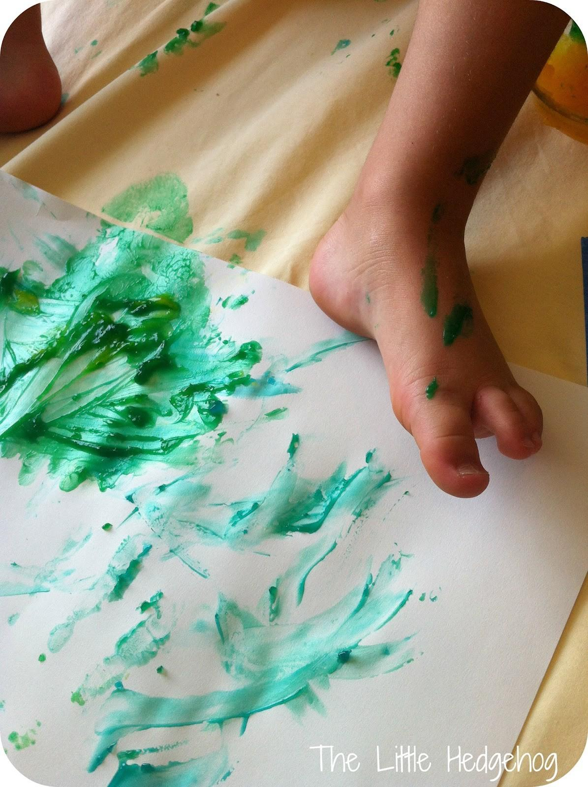 Little Hedgehog Finger Painting Diy Recipe