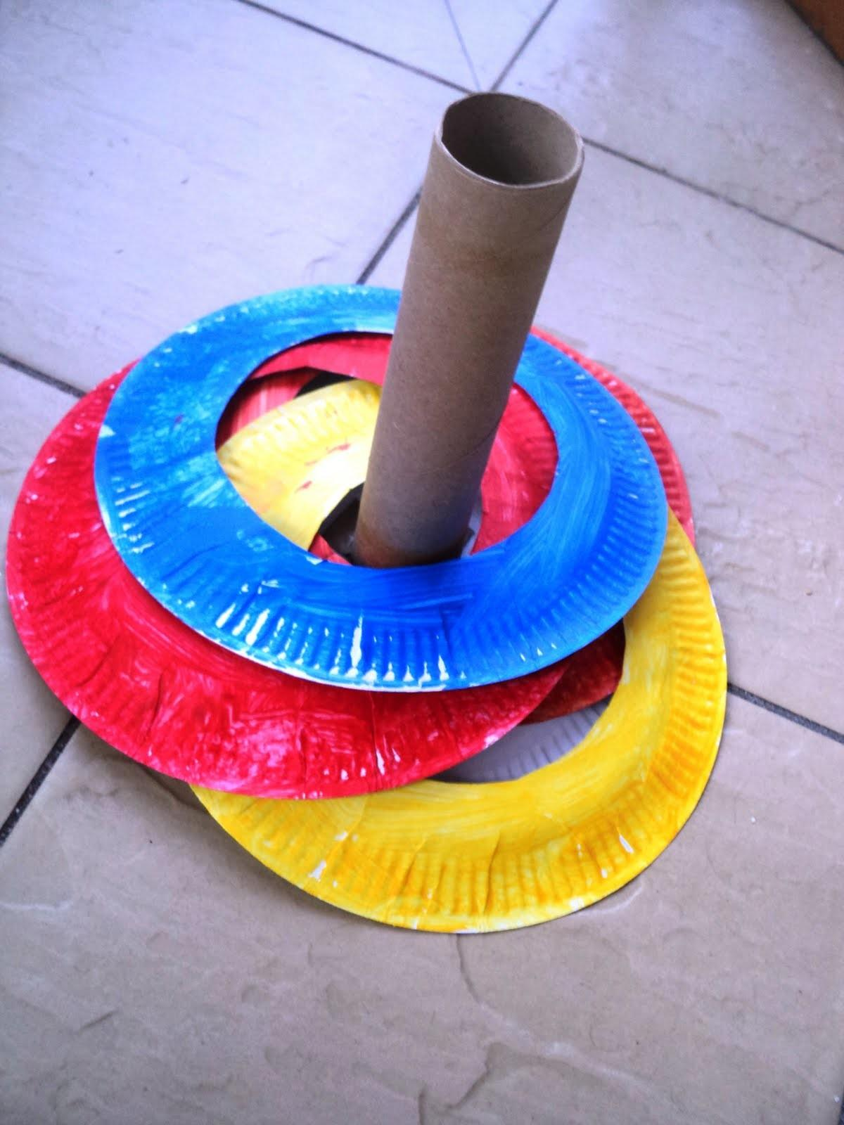 Little Learning Two Paper Plate Ring Toss Game
