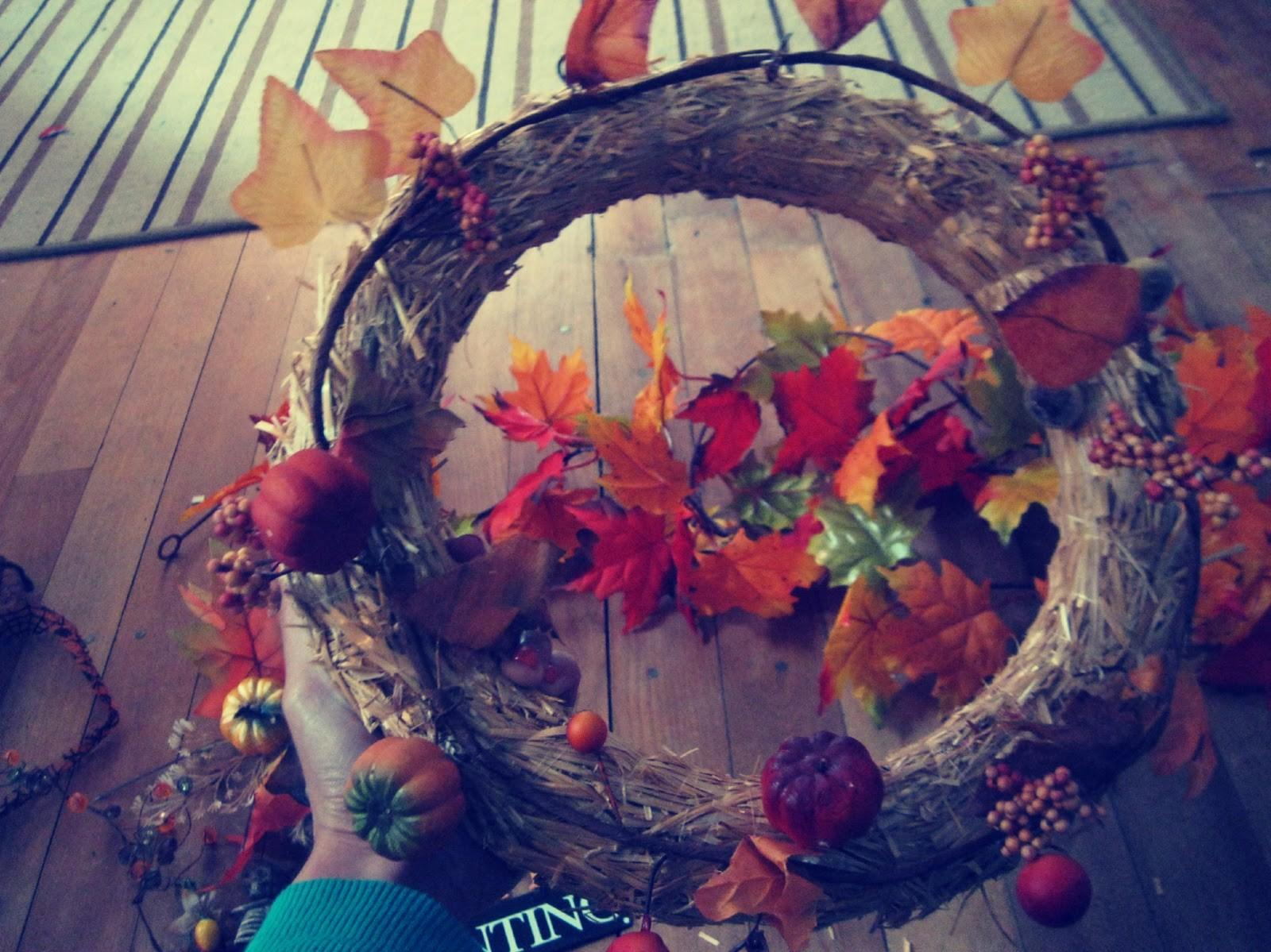 Little Luck Tree Harvest Halloween Wreath Diy