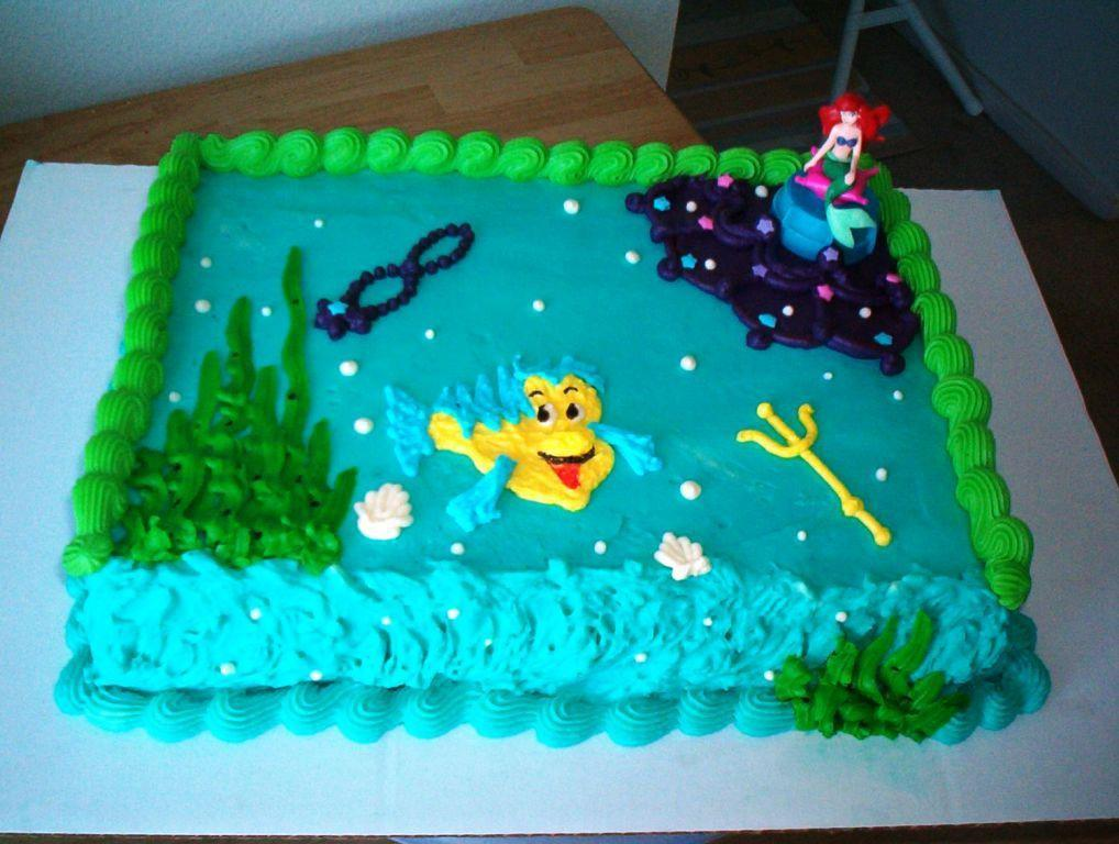 Little Mermaid Birthday Cake Fitfru Style Easy