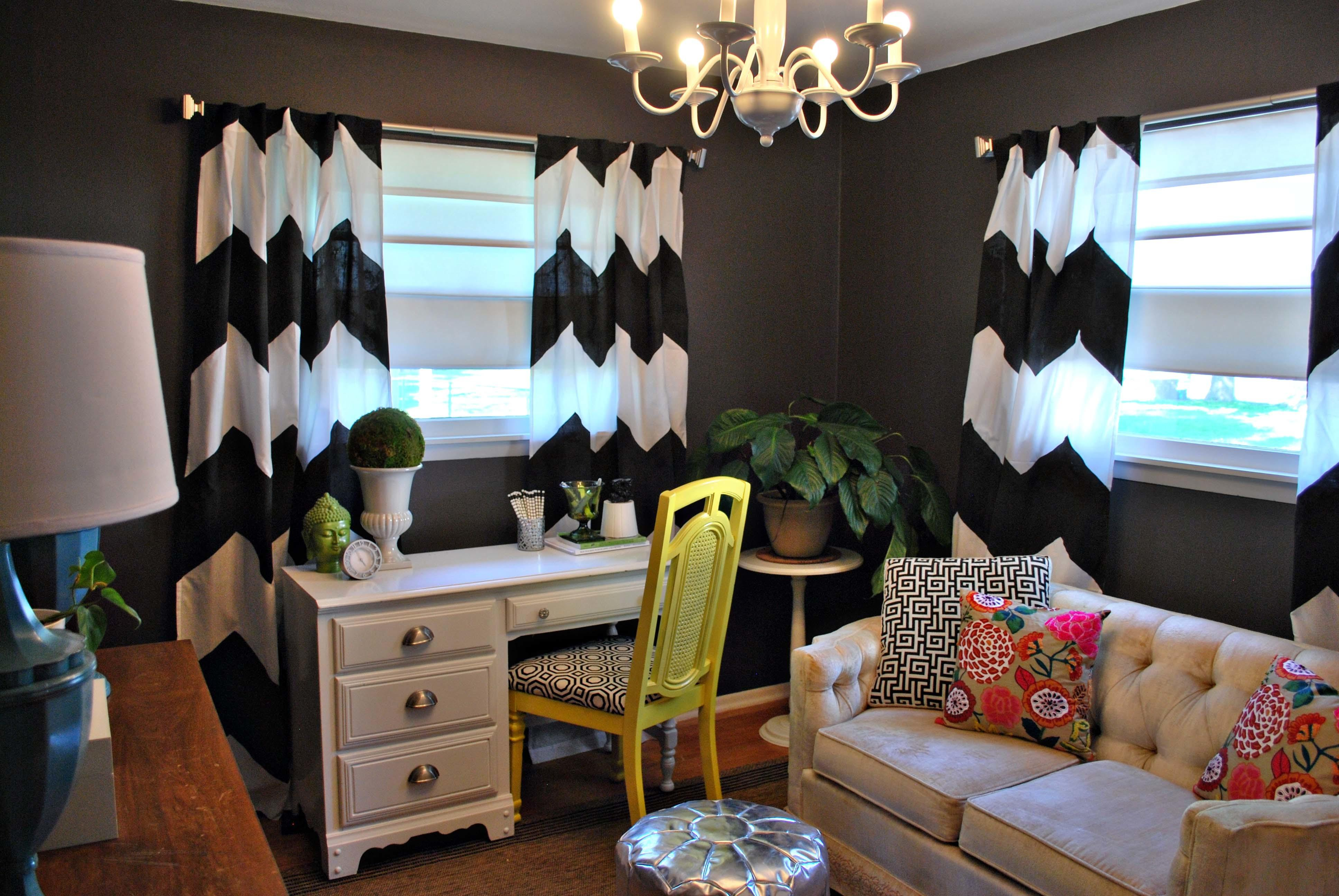 Little Retro Eclectic Home Office Makeover Sayeh