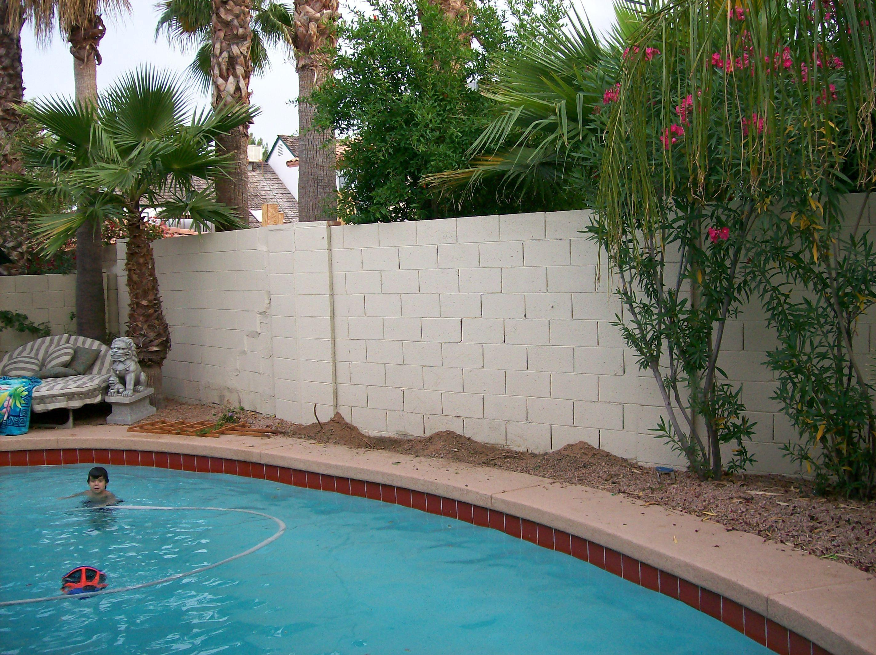 Little Stucco Paint Can Your Block Fence