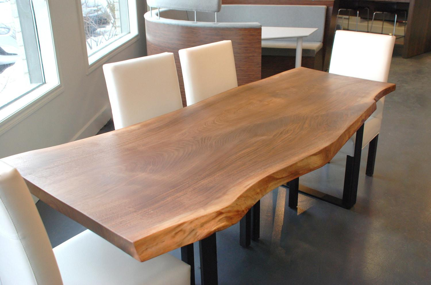 Live Edge Black Walnut Dining Table Boisdesign Etsy