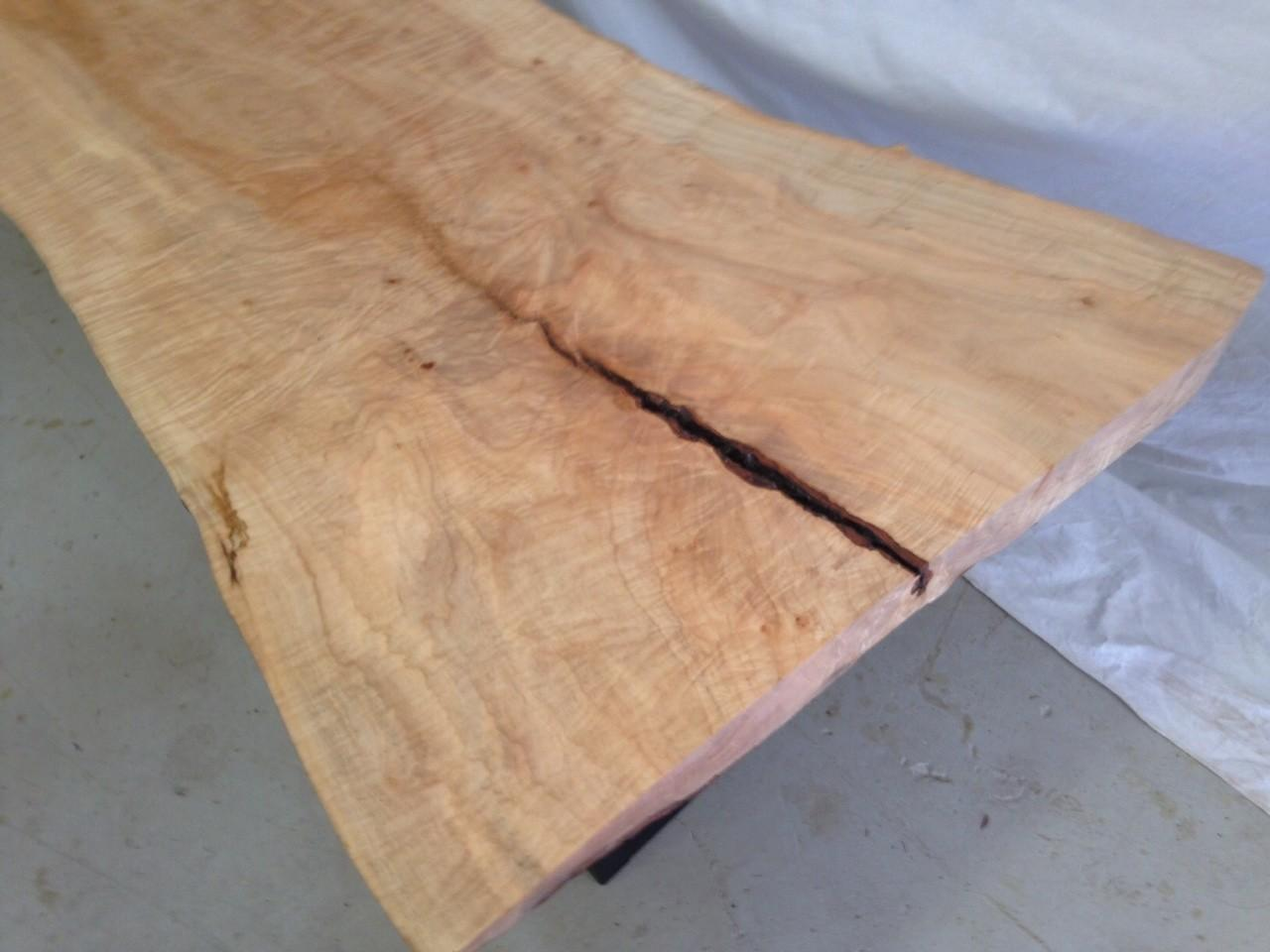 Live Edge Coffee Table Curly Maple Item