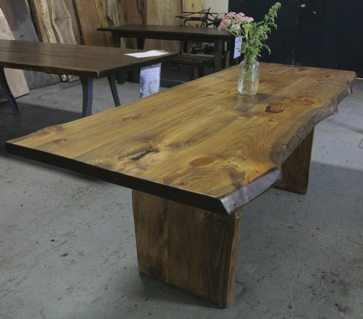 Live Edge Desk Slab Legs Lorimer Workshop