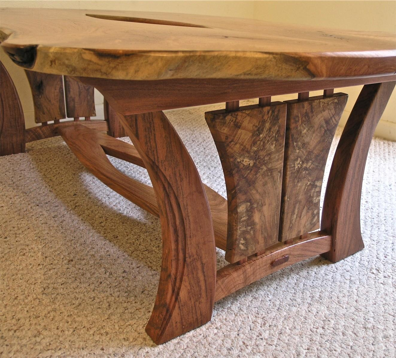 Live Edge Mesquite Coffee Table Louis Fry Furniture