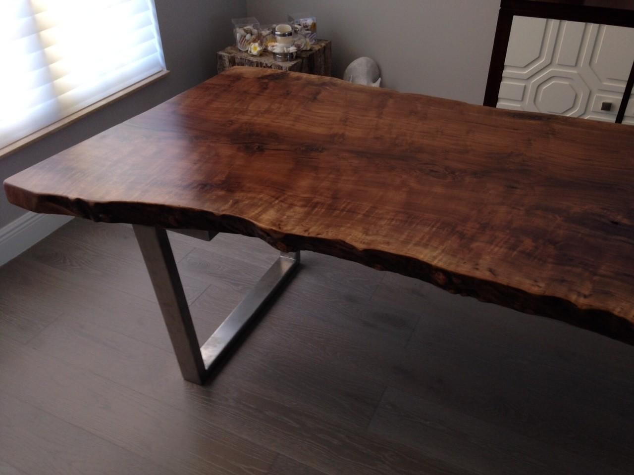 Live Edge Table Rustic Dining Modern