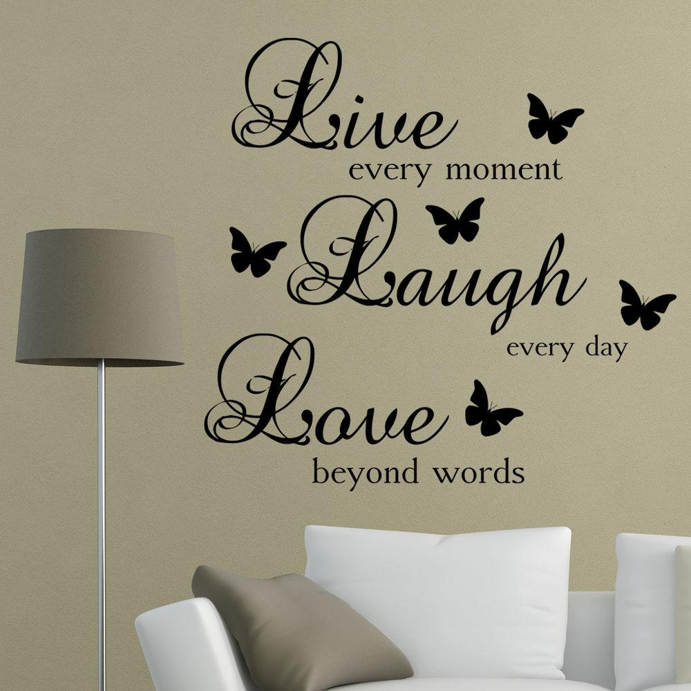 Live Laugh Love Words Wall Art Sticker Quote Living Room