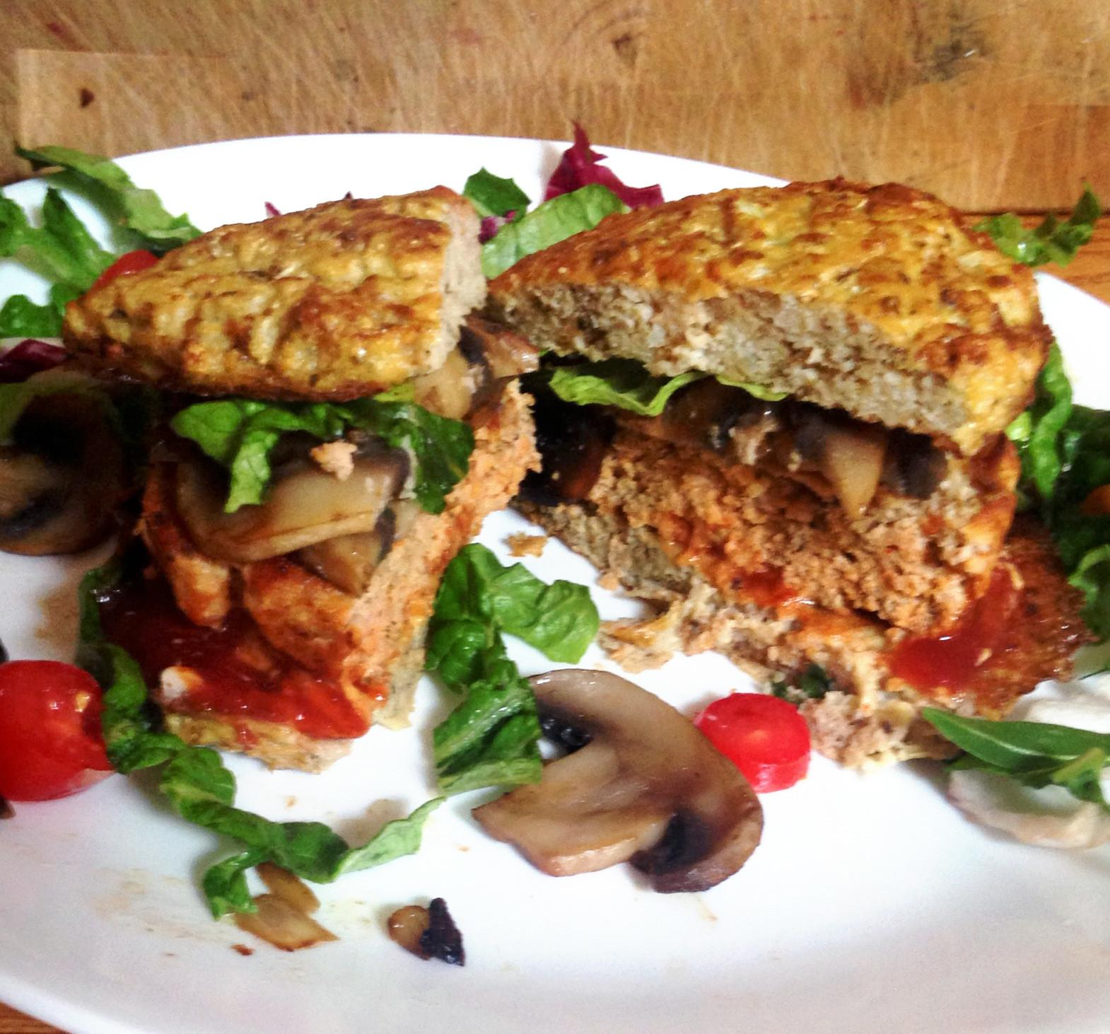 Live Right Healthy Homemade Turkey Burgers