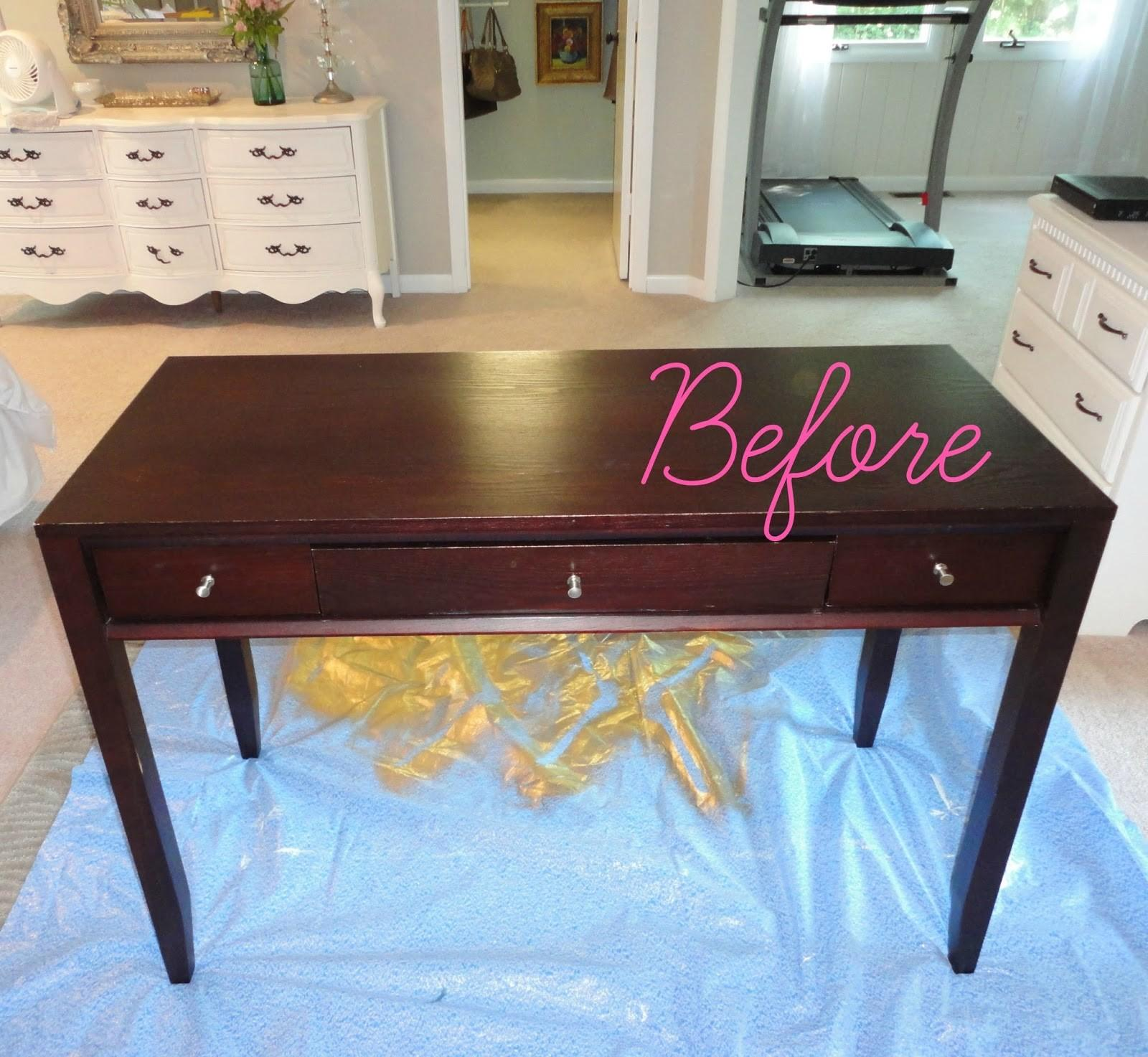 Livelovediy Diy Thrift Store Desk Makeover Using Silver