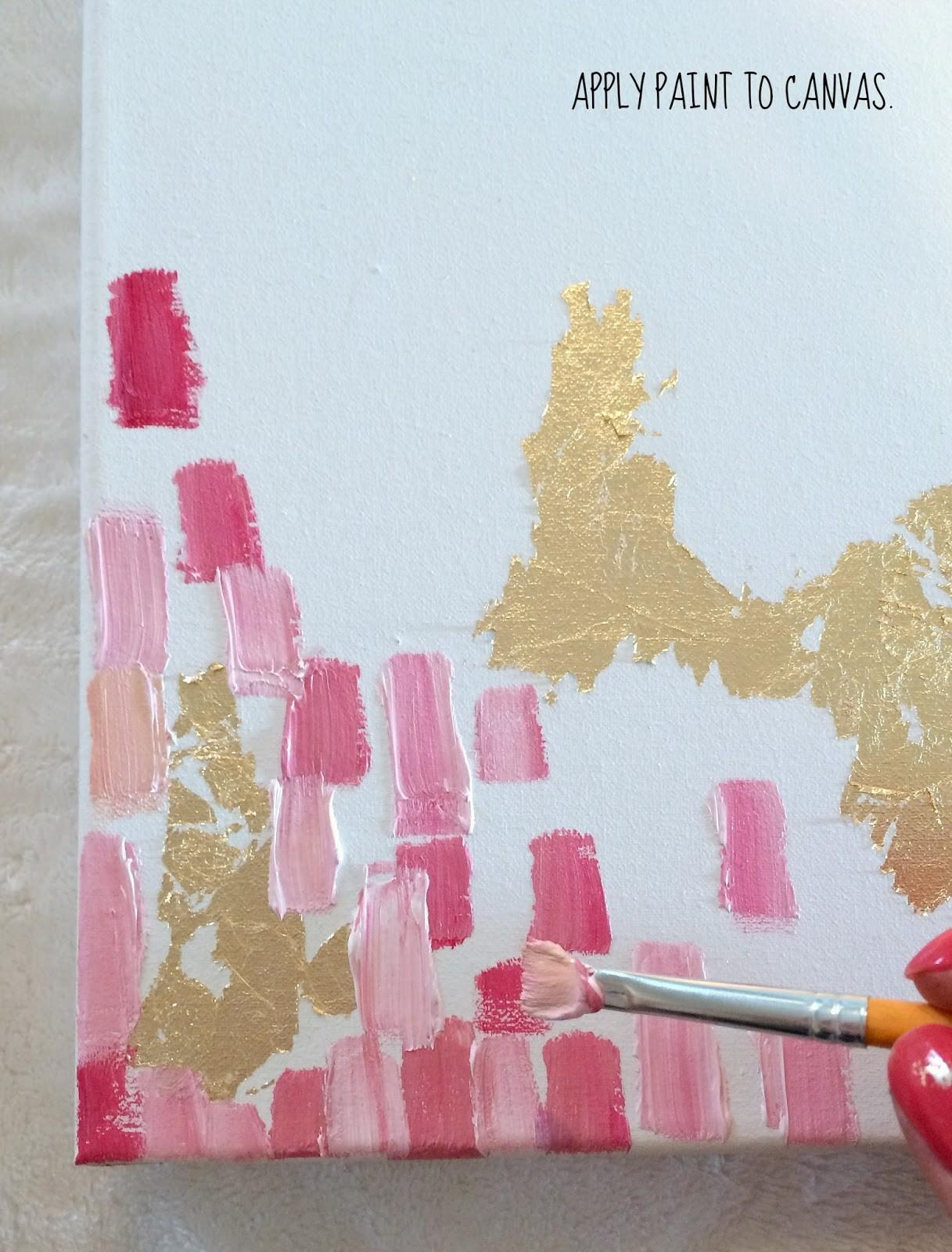 Livelovediy Make Diy Gold Leaf Abstract Art