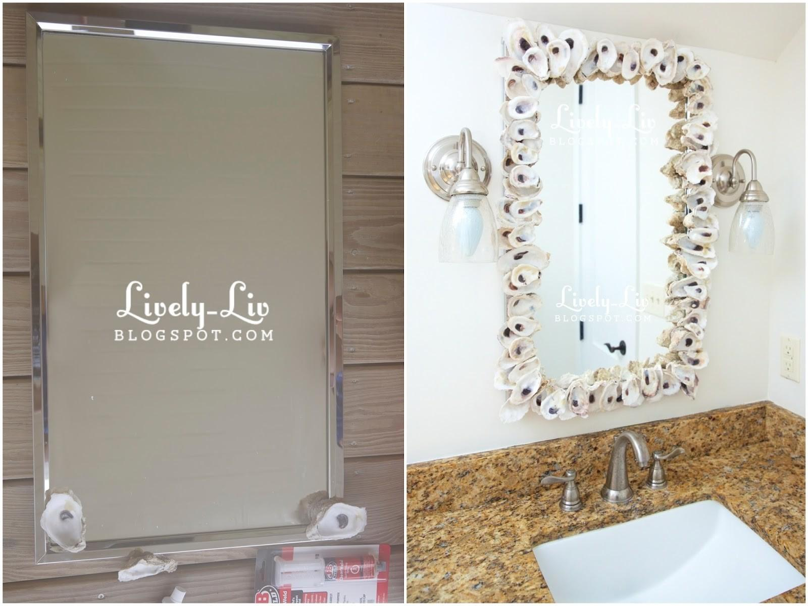 Lively Liv Diy Project Oyster Shell Mirror