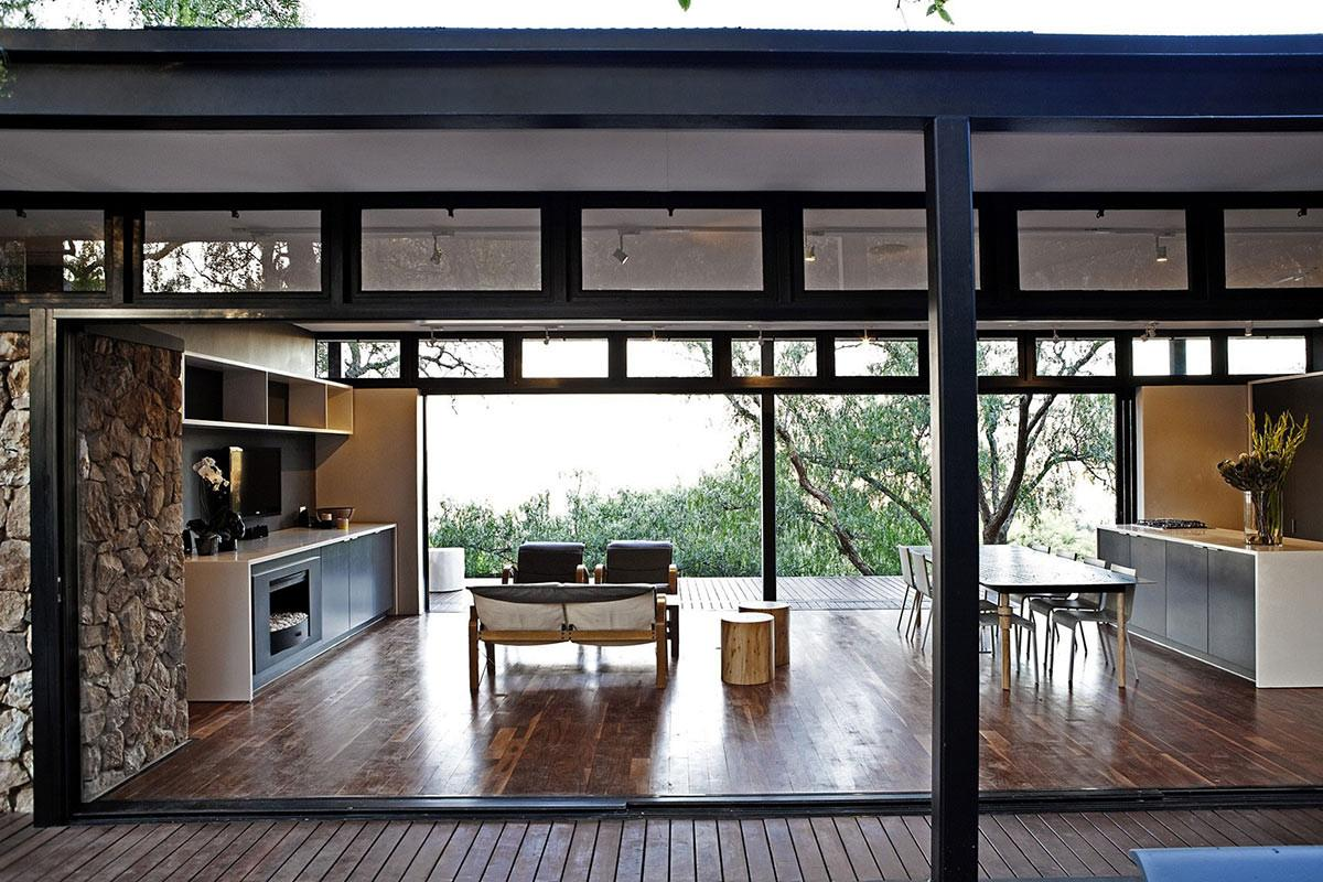 Living Kitchen Dining Space Compact Contemporary Home