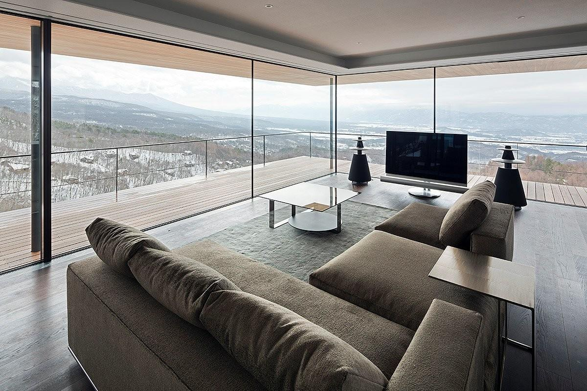 Living Room Balcony Beautiful Views Mountain House