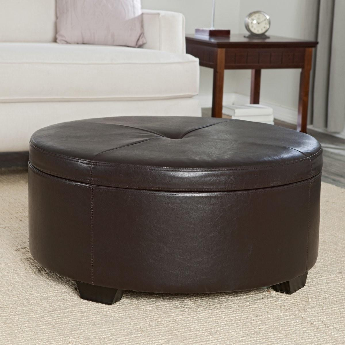 Living Room Coffee Table Simple Stylish Leather Ottoman