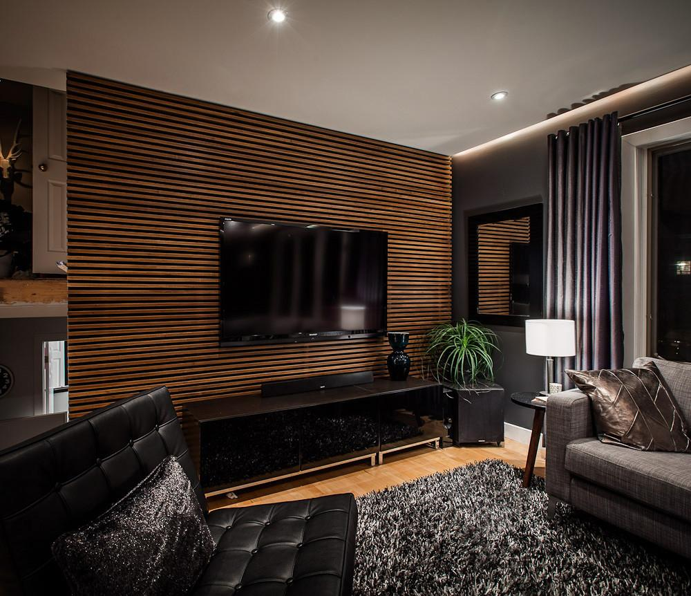 Living Room Handsome Accent Wall Ideas