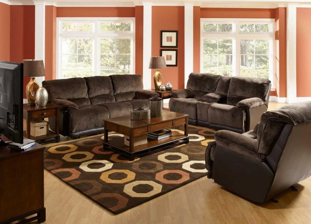 Living Room Ideas Creative Ornaments Dark Brown Couch